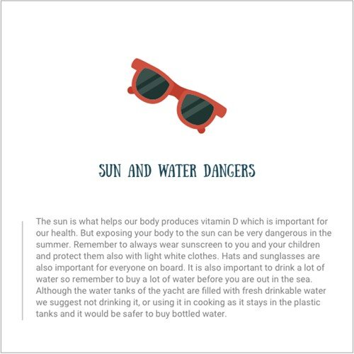 Sun and water dangers