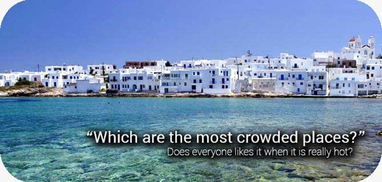 most crowded beaches in greece