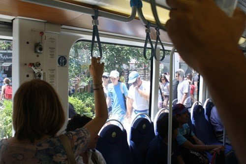 Athens Tram train inside