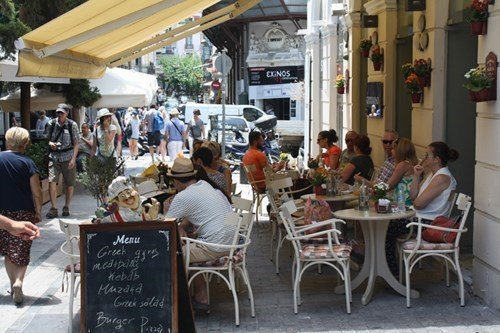 traditional cafe near Ermou street athens