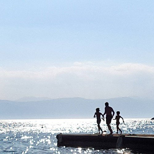 swimming at Spetses